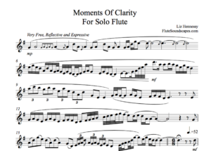 Moments of Clarity For Solo Flute